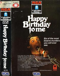Happy Birthday To Me (1981) Slasher/Horror ----A film almoust as tragic as it's name.
