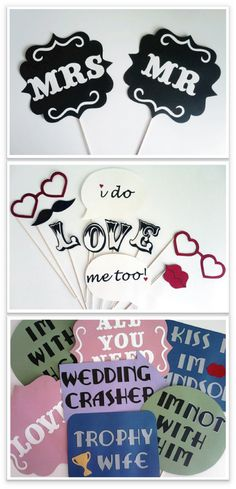 fun props for photo booth
