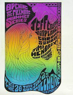 Jefferson Airplane, Jimi Hendrix, at the Fillmore