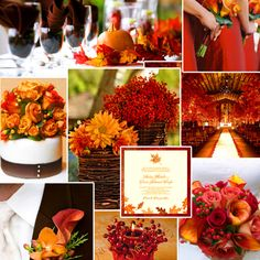 Dark red, burnt orange & chocolate for Fall Wedding