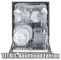 Sigh...so true.  The real Tetris is more fun though. Re-pin and click here to win a brand new Bosch Dishwasher http://womanfreebies.com/sweepstakes/win-a-bosch-dishwasher-2/?tetris  *Expires April 13, 2013*