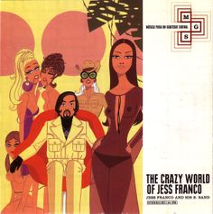 "CvA112. Jess Franco And His B. Band - ""The Crazy World Of Jess Franco"" by Jordi Labanda / Subterfuge Records 1997 / #Albumcover"