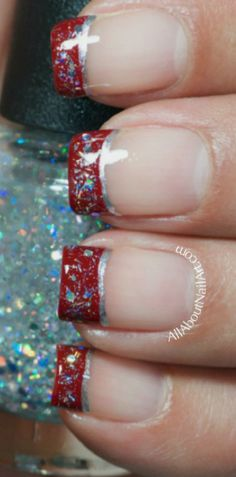 Tutorial: Easy Red and Silver French - Click the image for the Tutorial!