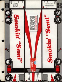 "fireworks packaging, 1983 >> Smokin' ""Semi"""