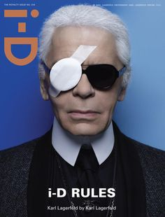 yep, i-D rules #cover i-D #magazine feat. Karl Lagerfeld spring 2012