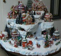 Christmas Village Displays   Custom miniature Christmas village display platform by nmitch1991