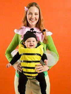 Mama flor y bebé abejita.