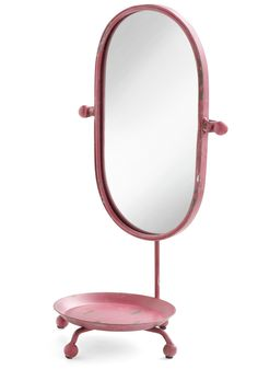 I like - in a different color: Eloquent Affair Mirror - Pink, Vintage Inspired, Dorm Decor, Quirky, Solid