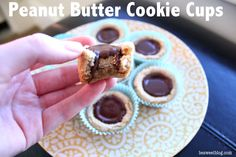 Peanut Butter Cookie Cups food recipes, cookie cups, cooki cup, peanut butter