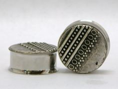 Silver Dot Plugs 7/8 Inch  22mm by arksendeavors on Etsy, $30.00