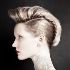 Quiff hairstyle You don't have to brave a drastic chop to create this 50s-style quiff at home. If your hair is in a chin to shoulder-length bob, you can work the look by brushing the sides of your locks back, hairspraying to hold flat and securing with pins at the nape of the neck. Tease the top section of your hair up into a quiff and use your hairdryer to set it in this retro style. quiff hairstyl, punk hair, hair inspir, hair style, upstyle short hair