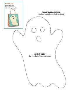 patron, templat, ghost pattern, ghost card, paper crafts