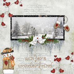 winter wonderland, scrapbook