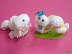 Recuerdo Animalitos De Toalla 10 Pzas Baby Shower Bautizo