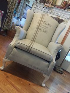 Painted Fabric Faux French Chair | Flickr - Photo Sharing!