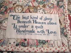 sew, heaven, quilts, quilt labels, quilt tag, quot, cross stitches, christma, hat
