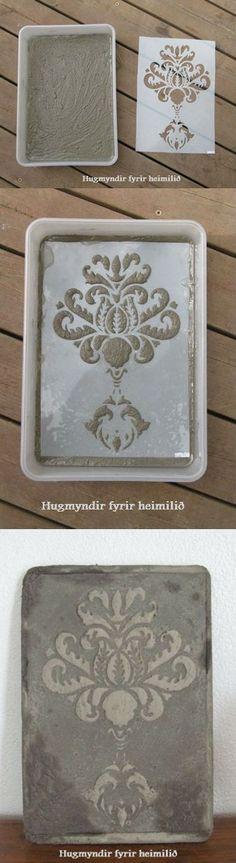 Hypertufa Design Using Stencils