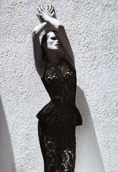 fashion, black white, editavilkeviciut, edita vilkeviciute, camilla akran, dot, peplum, lace dresses, september