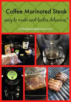 Coffee Marinated Steak easy to make and tastes delicious! #glutenfree #grilling #recipe #marinade