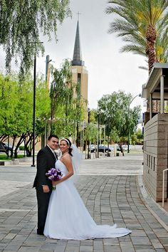 Downtown Mesa Wedding Amanda and her groom choose a location that offers a fun, urban, and historic vibe.