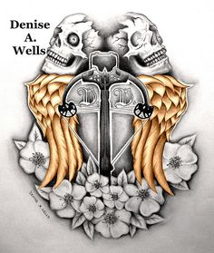 Daryl Dixon Norman Reedus Tattoo Design by Denise A. Wells