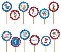 Dr. Seuss Cupcake Toppers #Aleciarae