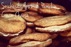 The Crafty Ginger: Snickerdoodles with pumpkin cream cheese