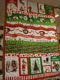 Grinch quilt #seuss #christmas