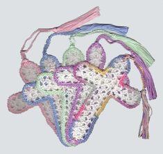 Online Crochet Patterns | Crocheted Cross Bookmarks crochetut.net