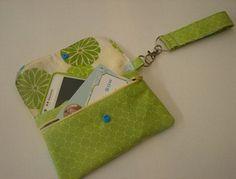 Cell phone zipper pouch