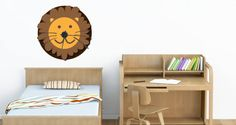 This Lion Decal wall clock is another nursery favorite. Also ideal for schools, clinics, playrooms, kid's stores…The Lion Noah's Ark wall clock decals is available in 3 sizes and the starting price of $38$.
