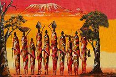Hermosa pintura de la vestimenta de la una tribu africana.  Foto de: Sarah Lindenauer.