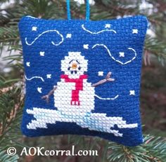 Christmas Snowman Cross Stitch