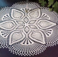 Pineapple Crochet Lace Doily