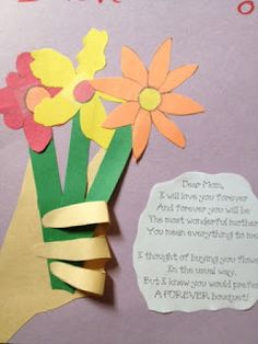 Mother's day Bouquet bouquet, mother's day activities, mothers day ideas, mother day gifts, kids mothers day, hand crafts, preschool crafts, mothers day crafts, craft ideas