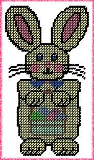 Free Easter Plastic Canvas Patterns   Easter Bunny Plastic Canvas E-Pattern