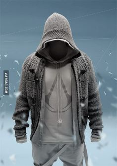 Cool assassins creed knitted jacket!