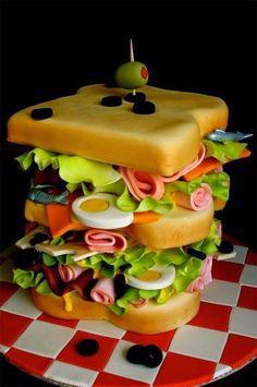 Tasty looking sandwich cake