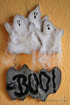Wooden Ghosts Door Sign for Halloween