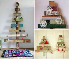 árvore de natal de madeira Enfeites de Natal sustentáveis