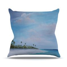 Kess InHouse Rosie Brown Carefree Carribean Throw Pillow, 26 by 26-Inch Kess InHouse http://www.amazon.com/dp/B00ICM5KD0/ref=cm_sw_r_pi_dp_lbm4tb1T44M4D   #pillow #throwpillow #homedecor #kessinhouse #amazon #art throw pillows, pillow throwpillow, kessinhous