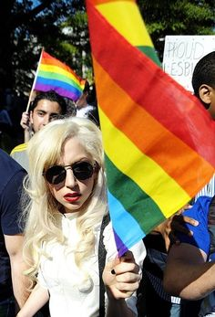When celebrities support gay rights >