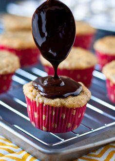 Honey Banana Cupcakes with Nutella Ganache | Neighborfoodblog.com