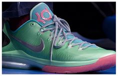 Nike KD V Elite Green/Blue-Pink
