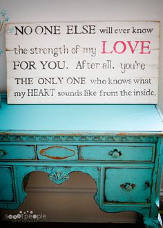 These words are just so beautiful for a child's room.
