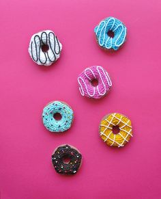 "free pattern : Crochet Donuts Pattern by ""Little Things Blogged"""