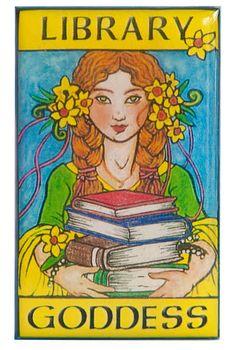 Library goddess   @Tara Goldberg