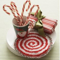 Brighten up your kitchen this holiday season by making use of the Peppermint Swirl Hot Pad. Work up this crochet hot pad to show off your Christmas cheer