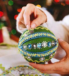 Sequin Ball Ornament #christmas #crafts #DIY #ornament #ball #sequins