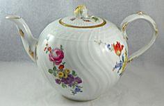 Teapot.  Meissen Porcelain